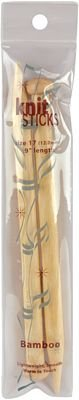 Bamboo Single Point Knitting Needles 9 Inch -Size 17