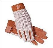 (SSG Lycrochet Ultraflex Gloves 8 Natural/Brown)