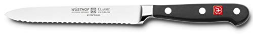 Wusthof Classic 4110 Serrated Utility Knife, 5 Inch -