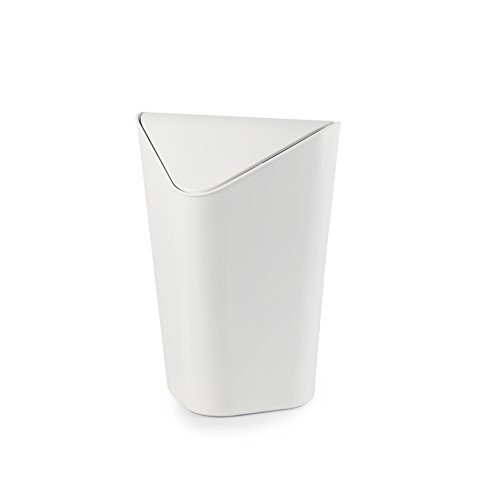 Umbra Corner Waste Can, White (Small Trash Can White compare prices)