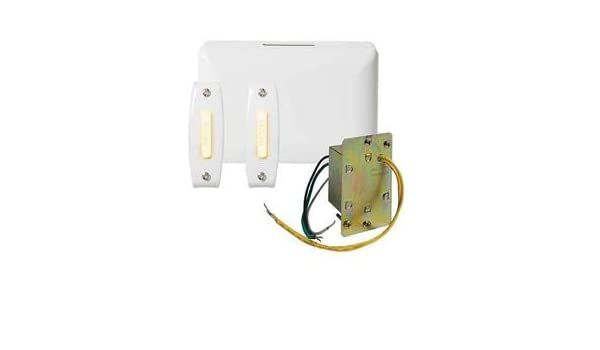 NUTONE - BK242LWH 2-Note Door Chime w/Junct Box & 2-Lighted Push Buttons, White - - Amazon.com