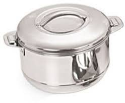 Divyaa 3500ml Super Stainless Steel Dish with Cover Casserole