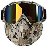 Motorcycle Goggles Mask, Aolvo Windproof Face Mask Goggles
