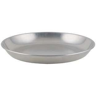 - Winco ASFT-20, 250-Ounce Brushed Aluminum Round Serving Seafood Platter Tray