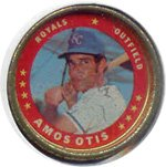 1971 Topps Topps Coins (Baseball) Card# 96 amis otis of the Kansas City Royals ExMt Condition