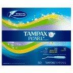 Tampax Tampon Pearl Multi Pack 50 Ct, Pack of 6