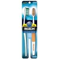 Reach Advanced Design Medium Value Pack Adult Toothbrushes, 2 Count
