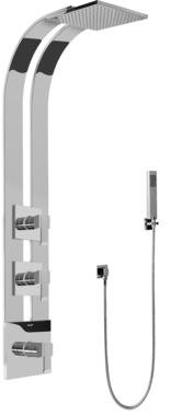 Graff GE2.020A-LM38S-SN-T Square Thermostatic Ski Shower Set w/Handshowers (Trim Only)