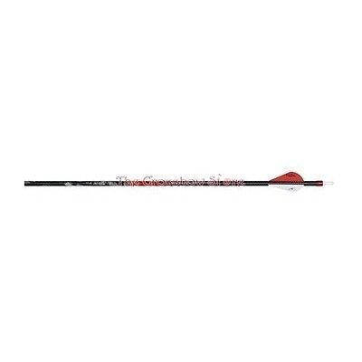 Carbon Express 50690 Maxima Hunter Fletched BuffTuff Carbon Arrows with Blazer Vanes, Size 250, 6-Pack, Mossy Oak Treestand Pattern (Outlet Bow Genesis)