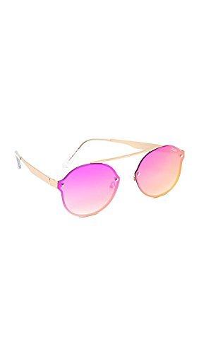 Camden Glass (Quay Women's Camden Heights Sunglasses, Gold/Pink, One Size)