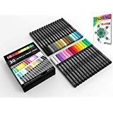 Acrylic Paint Pens 30 Assorted Markers Set 0.7mm Extra Fine Tip for Rock, Glass, Mugs, Porcelain, Wood, Metal, Fabric, Canvas, DIY Projects, Detailing. Non Toxic, Waterbased, Quick Drying.