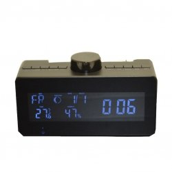 Mini Gadgets 1080P HD Wifi Radio Clock Camera With Rotating Lens by Mini Gadgets