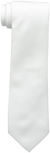 Van Heusen Men's Iridescent Solid Tie, White, One Size ()