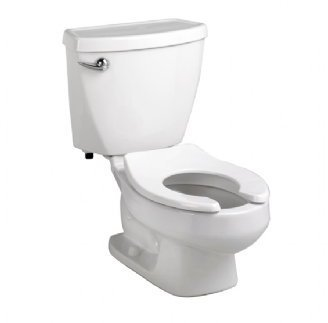 "American Standard 2315.228.020 Baby Devoro Flowise 10-Inch High Round Front Toilet, White(""Seat is sold separately"")"