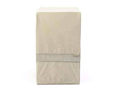 - Covermates - Square Smoker Cover - 32W x 32D x 40H - Elite Collection - 3 YR Warranty - Year Around Protection - Khaki