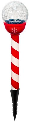 Gossi CSPG-1 Christmas Solar Light With Red & White Stake, Pack Of 12 by Gossi