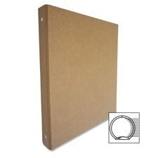 Aurora 10252 1-Inch Capacity Three Ring Brown Kraft Recycled Binder