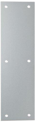 Rockwood 70A.28 Aluminum Standard Push Plate, Four Beveled Edges, 12