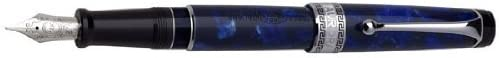 Aurora Optima - Auroloide Blue w/ Chrome Fine Point Fountain Pen - AU-996CB-F