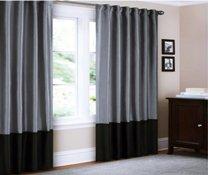 Cheap Canopy Faux Silk Lined Drapery Panel 95 (Grey)