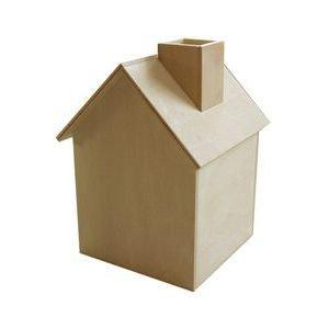 無塗装白木素材 ハウス型ロールティシュ&小物入れcw-411