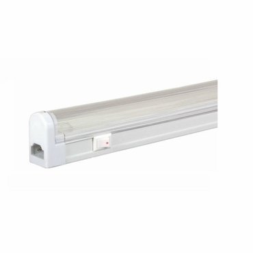 Jesco Lighting SG5-28SW/41 Sleek Plus Classic Grounded 28-Watt T5 Light Fixture, 4100K Color, White Finish, With Switch 28w T5 Direct Wire