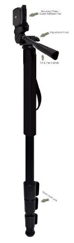 "Professional Black 72"" Monopod / Unipod (Quick Release) For Canon EF 28-135mm f/3.5-5.6 IS Image Stabilizer USM"