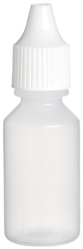 (Nalgene 2750-9050 Dropper Bottle, Natural LDPE With White Closure, Lab Pack, 15mL (Case of 25))