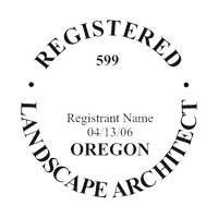 OREGON REGISTERED LANDSCAPE ARCHITECT SUPPLIES // OREGON // CUSTOMIZED / PERSONALIZED PROFESSIONAL LANDSCAPE ARCHITECT SEAL (STAMP) // iSTAMP PROFESSIONAL (Landscape Architect Seal)