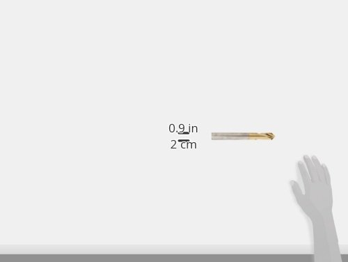 8 Overall Length TiN Coated 1 Body Diameter Round Shank 90 Degree Point Angle Right Hand Flute KEO 32102 High-Speed Steel NC Spotting Drill Bit