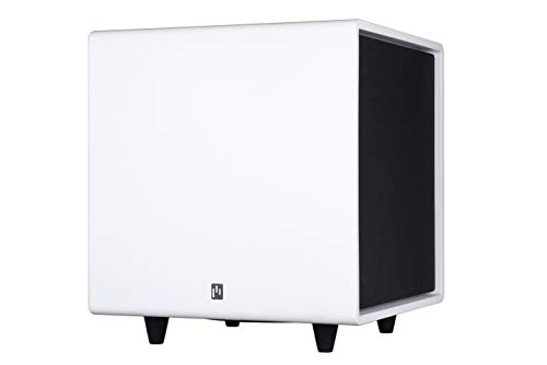 Aperionaudio Bravus II 10inch 500W RMS Down Firing and Passive Radiator Active Powered Subwoofer (Single Matte White)