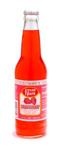 Foxon Park, Strawberry Soda, 12 oz. Bottle (Case of 12) made in New England