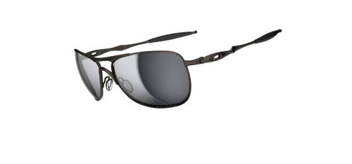 Oakley Mens Ti Crosshair OO6014-02 Polarized Oval Sunglasses,Pewter Frame/Black Iridium Polarized Lens,one - Black Aviators Oakley