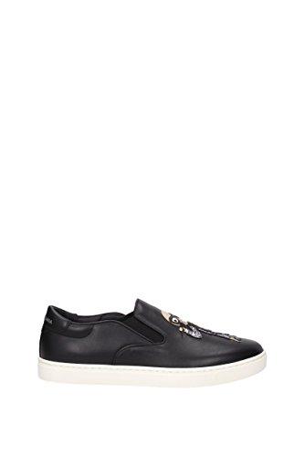 Slip On Dolce&Gabbana Men - Leather (CS1365AG474) UK Black wYyY9b