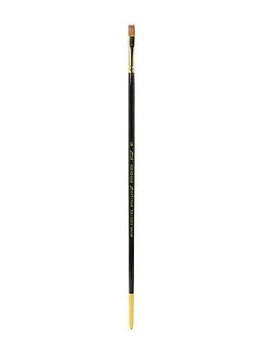 Bright Silver Brush 7102-8 Renaissance Pure Red Sable Long Handle Premium Quality Brush Size 8