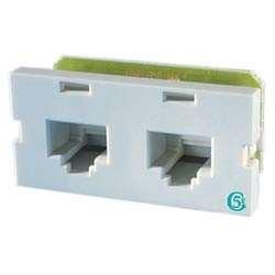 (Ortronics Clarity Series II 2-Port CAT5e Jack Module, Fog White OR-S225E00)
