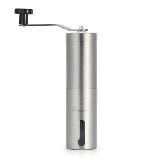 Procewin Manual Coffee Grinder, Conical Burr Mill for Precision Brewing, Brushed Stainless Steel