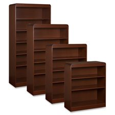 Lorell 5-Shelf Adjustable Bookcase, 36 by 12 by 60-Inch, Mahogany