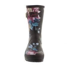 Joules Womens Molly Welly Rain Boot Nero Clematide