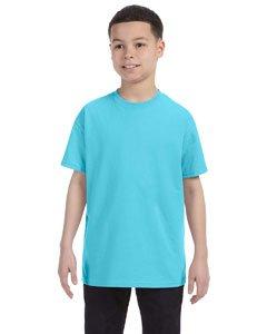 Gildan boys Heavy Cotton T-Shirt(G500B)-SKY-M