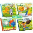 Sesame Street Bath Time Bubble Sports Mini Book 4-Pack