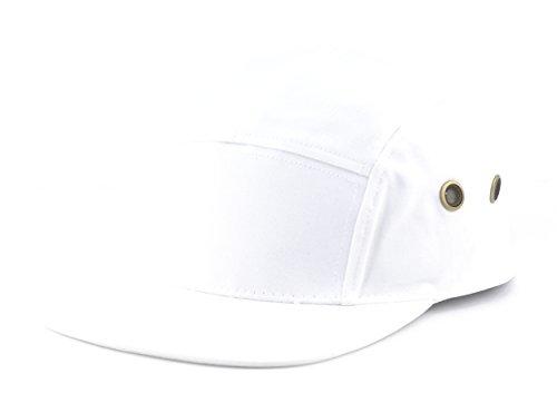 white 5 panel hat - 4