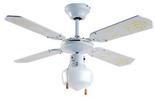 Micromark miami 36 ceiling fan with schoolhouse light fitting micromark miami 36quot ceiling fan with schoolhouse light fitting aloadofball Images