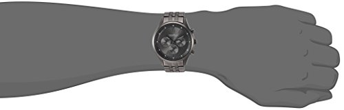 Caravelle New York Men's Quartz Stainless Steel Dress Watch, Color:Grey (Model: 45A133)