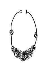 Batucada - Bijoux à fleur de peau effet tatouage - Collier Summer spirals - Noir