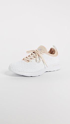 APL: Athletic Propulsion Labs Womens Techloom Phantom Sneakers White/Opaque Peach B08xaY
