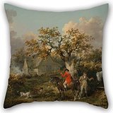Jones Tones Foil (Alphadecor Oil Painting George Morland - Partridge Shooting Throw Pillow Case 16 X 16 Inches / 40 By 40 Cm For Monther,birthday,chair,bench,living Room,kids With Double Sides)