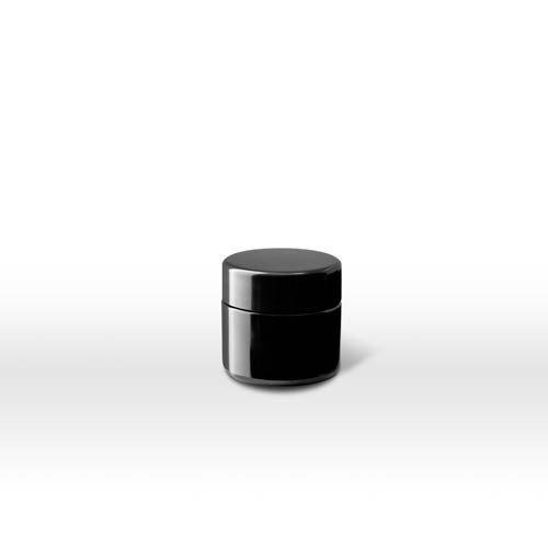 Infinity Jars 15 Ml (.5 fl oz) Pocket Size Black Ultraviolet Glass Screwtop Jar - Face Shape For Glasses What