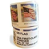 Usps Forever Stamps  Coil Of 100 Us Flag Postage Stamps  2016 Or 2017 Version