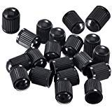 UA Crafts 25 Pack Tyre Valve Dust Covers - Plastic Tire Caps for Bike, Car, Trucks, Motorbike, and Bicycle - Color Black